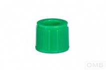 Крышки к пробиркам 13 мм, цвет зеленый