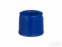 Крышки к пробиркам 13 мм, цвет синий